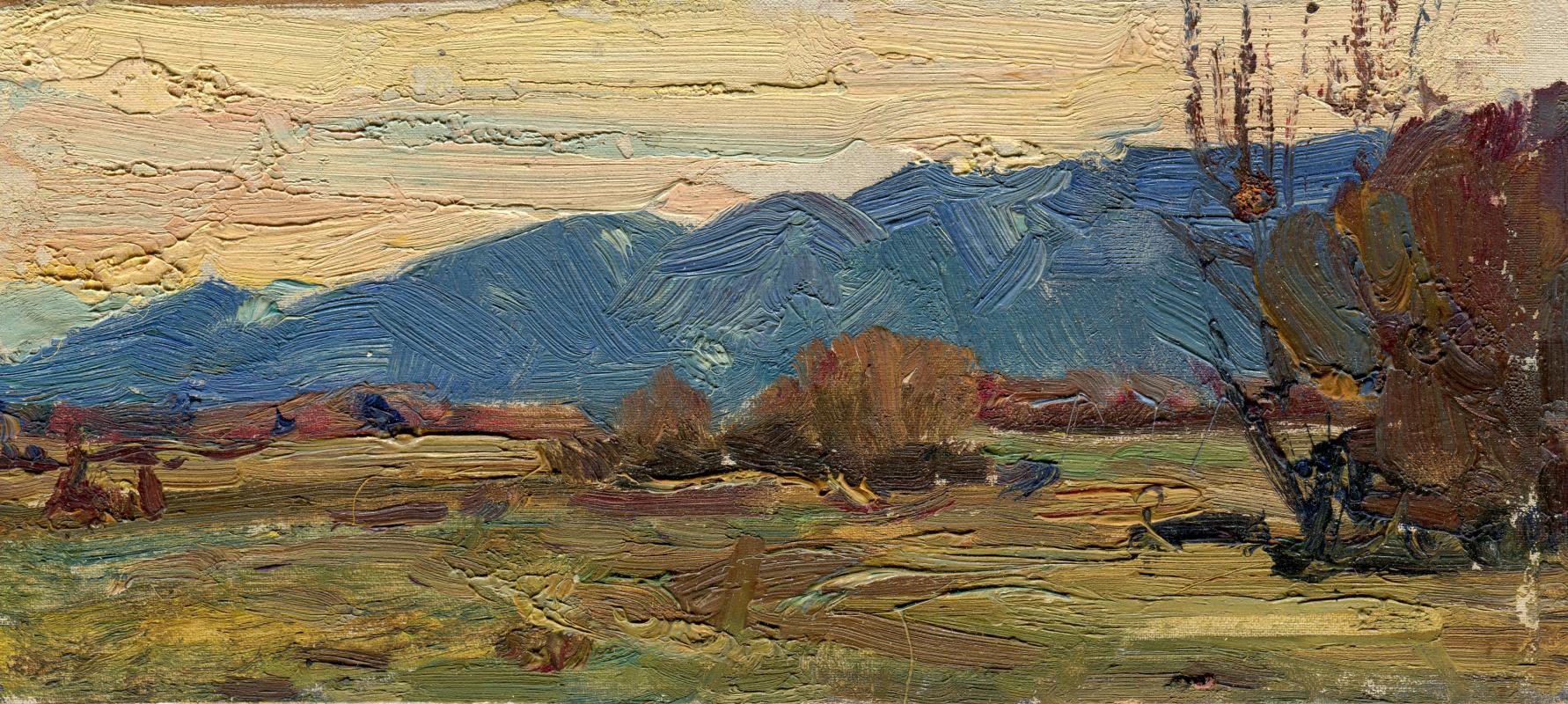 """Vasily Fadeevich Demin. Study """"Tuvan Mountains"""""""
