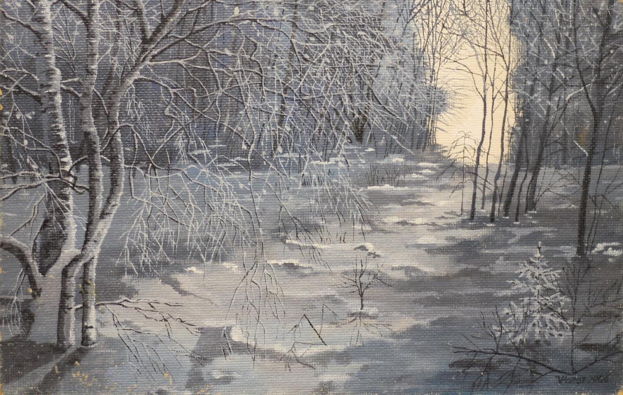 Vladimir Adamovich Ropot. In the moonlight Scaffold