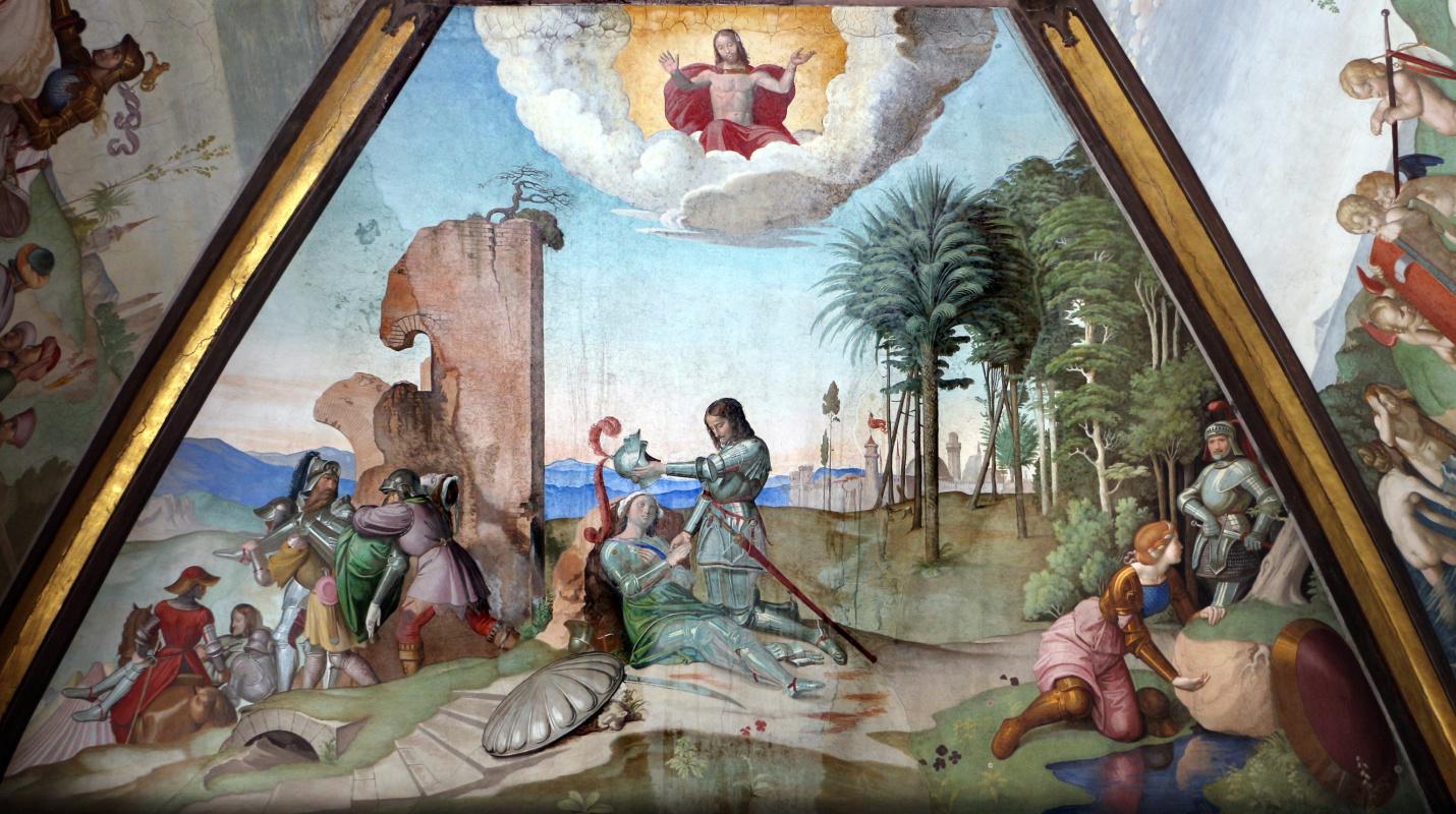 Johann Friedrich Overbeck. The frescoes of the villa Massimo, Tasso Hall: The Death of Clorinda