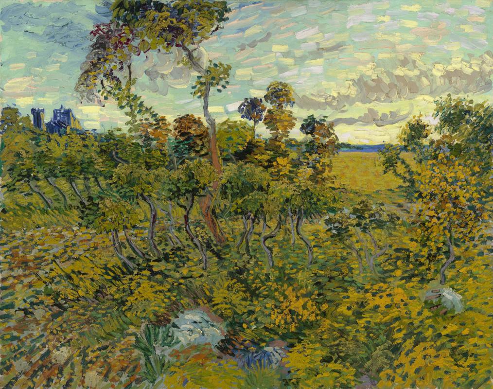 Винсент Ван Гог. Закат в Монмажуре