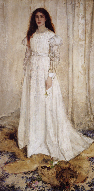 James Abbot McNeill Whistler. Symphony in white No. 1. The girl in white. Portrait Of Joanna Hiffernan