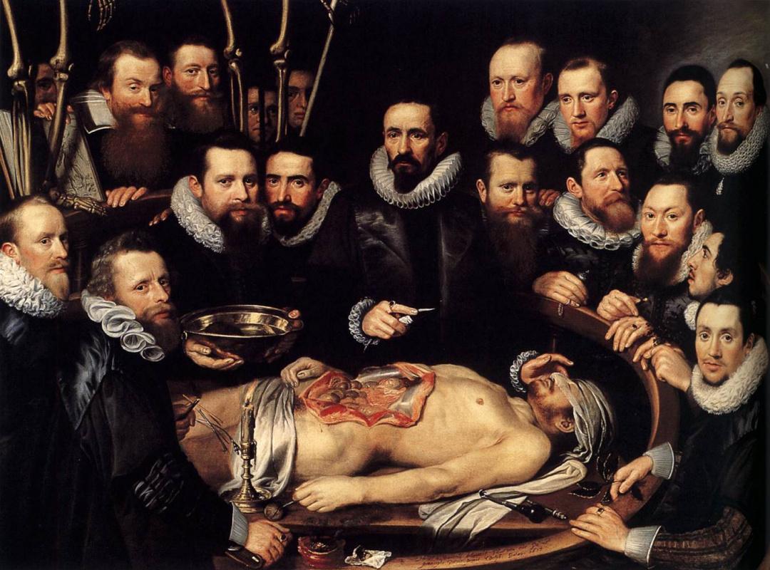 Janson Mihil van Mireveld. Anatomy lesson by Dr. Willem van der Meer