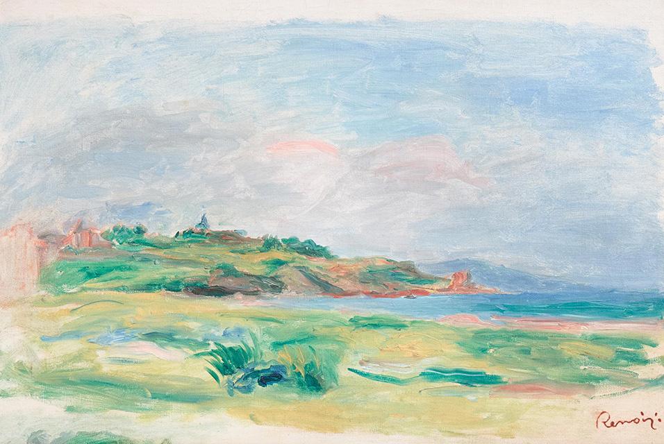 Пьер Огюст Ренуар. Залив, море, зелёные скалы