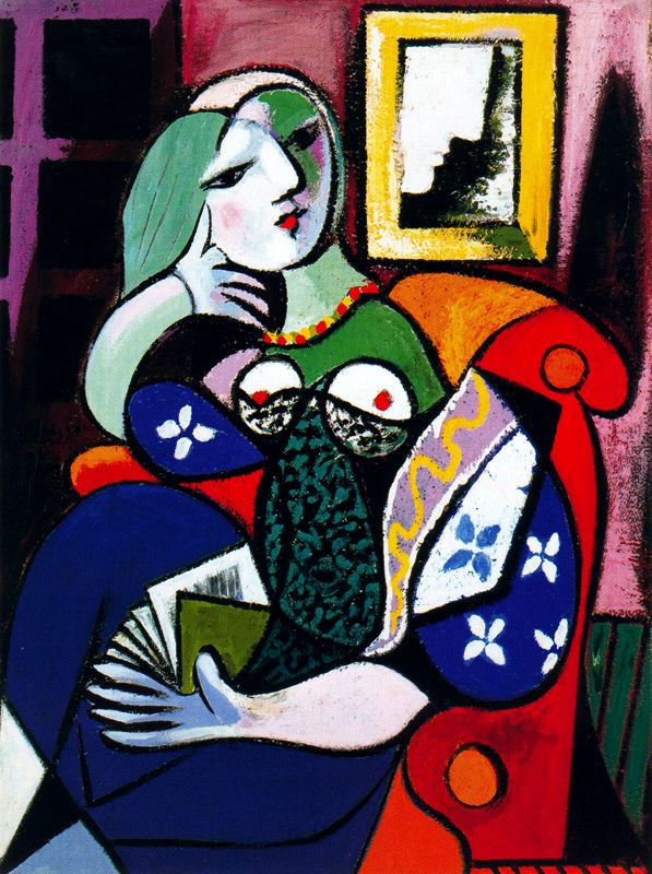 Pablo Picasso. Woman with book