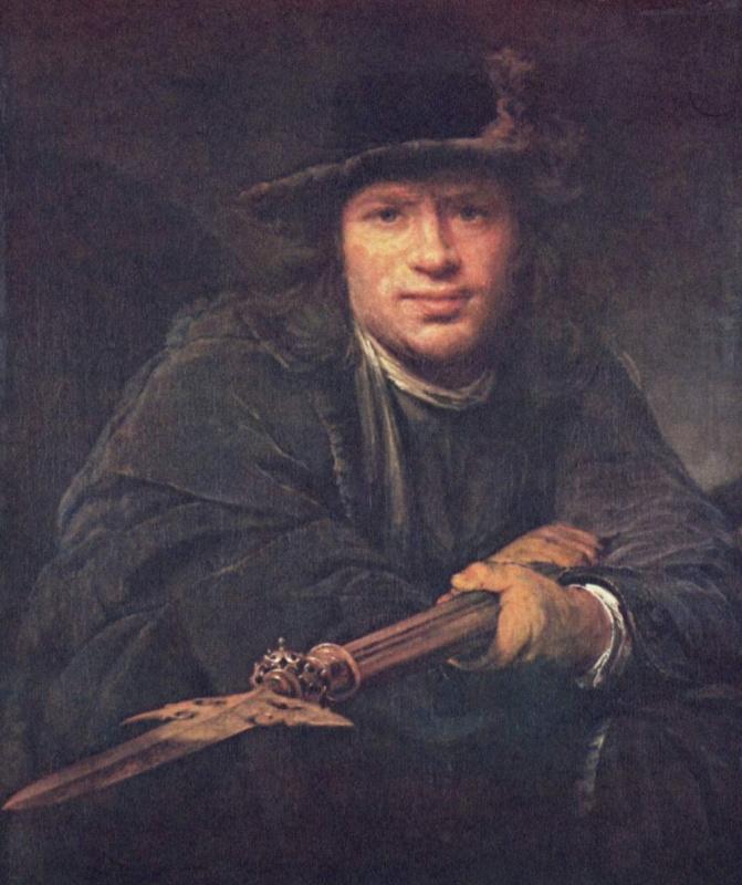 Арт Йоханс де Гелдер. Портрет мужчины с алебардой