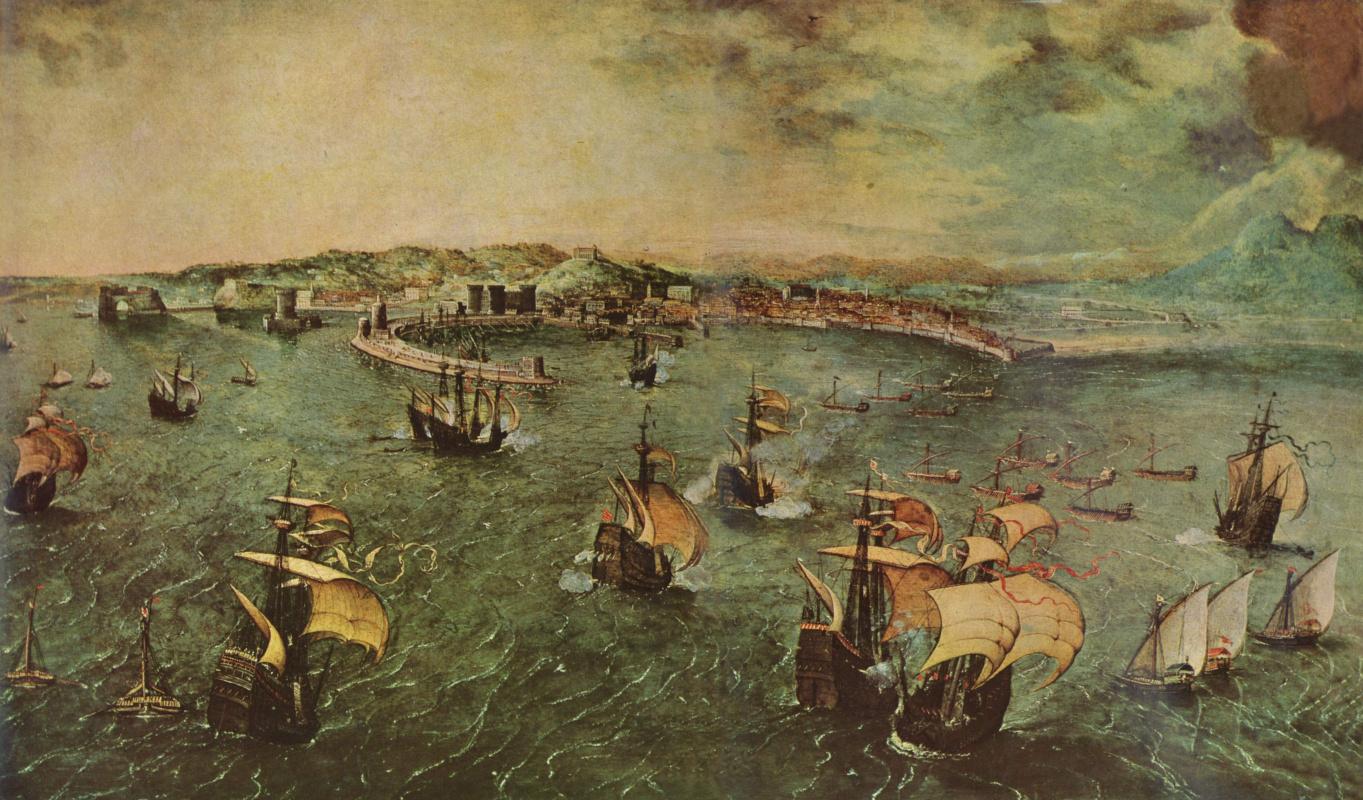 Питер Брейгель Старший. Порт в Неаполе