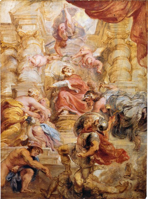 Питер Пауль Рубенс. Аллегория царствования короля Англии Иакова I