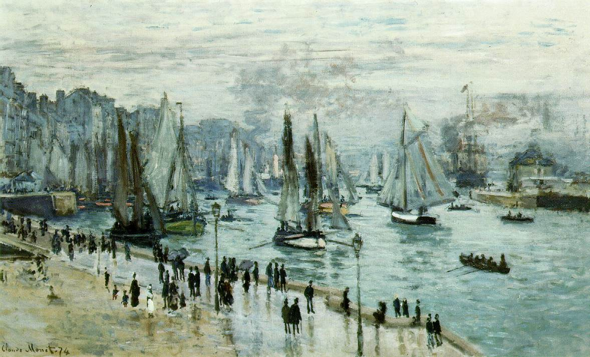 Claude Monet. Fishing boats leaving the Harbor, Le Havre