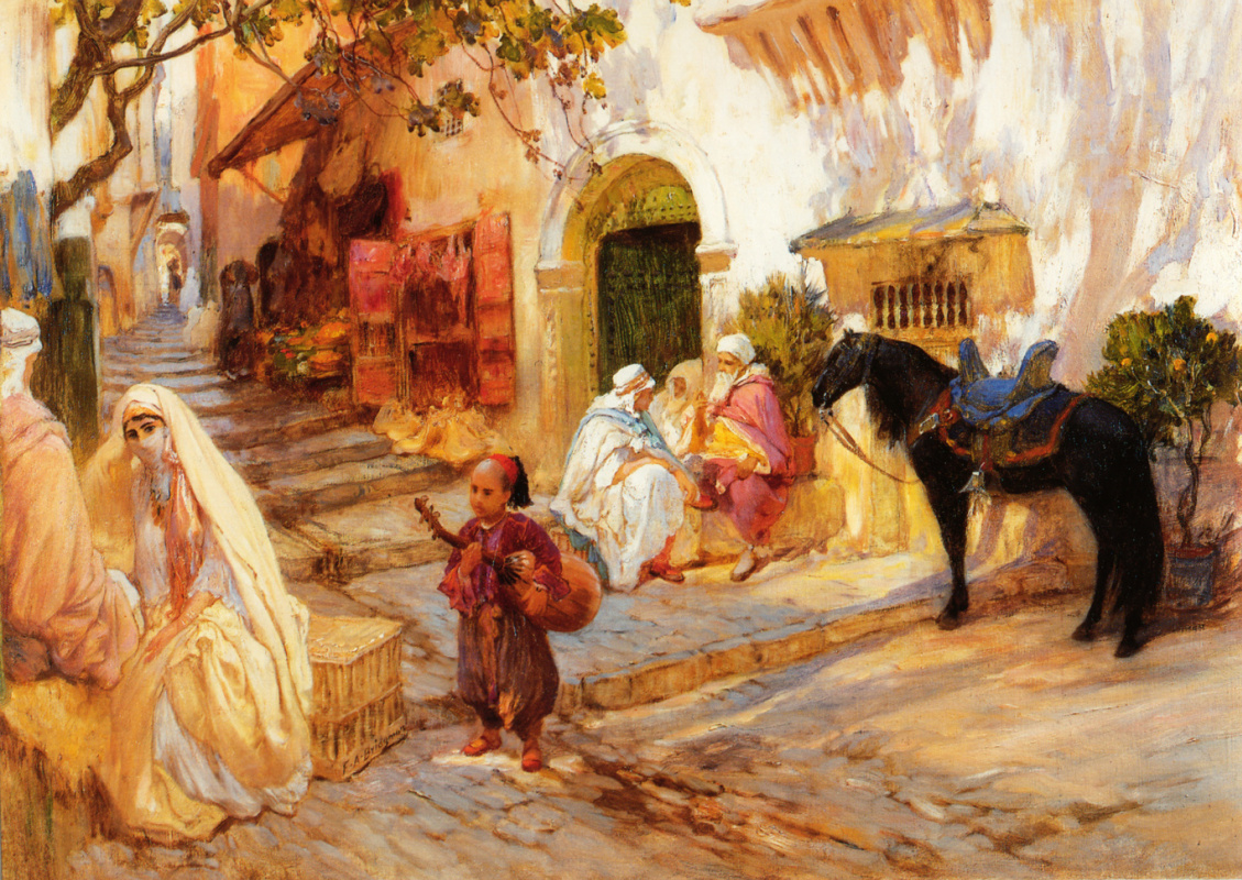Фредерик Артур Бриджмен. Улица в Алжире