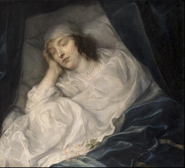 Anthony van Dyck. Venice, lady Digby on her deathbed