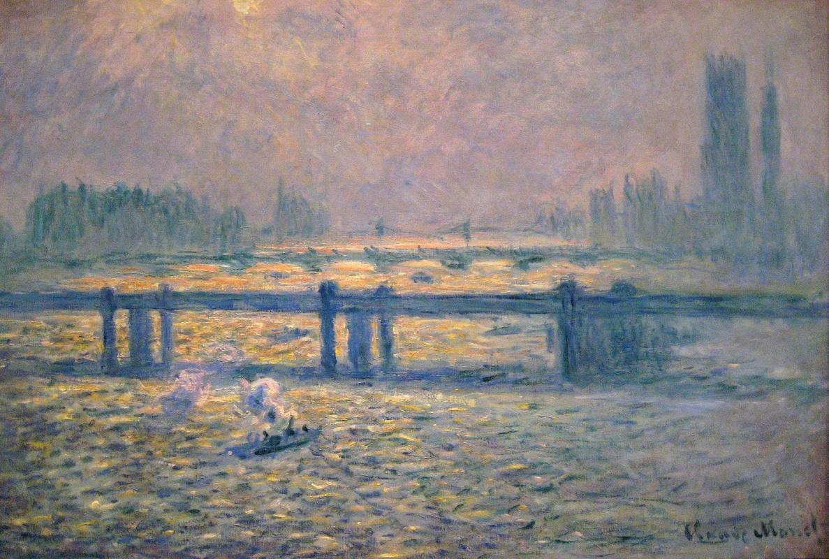 Клод Моне. Мост Чаринг-Кросс, отражение в Темзе