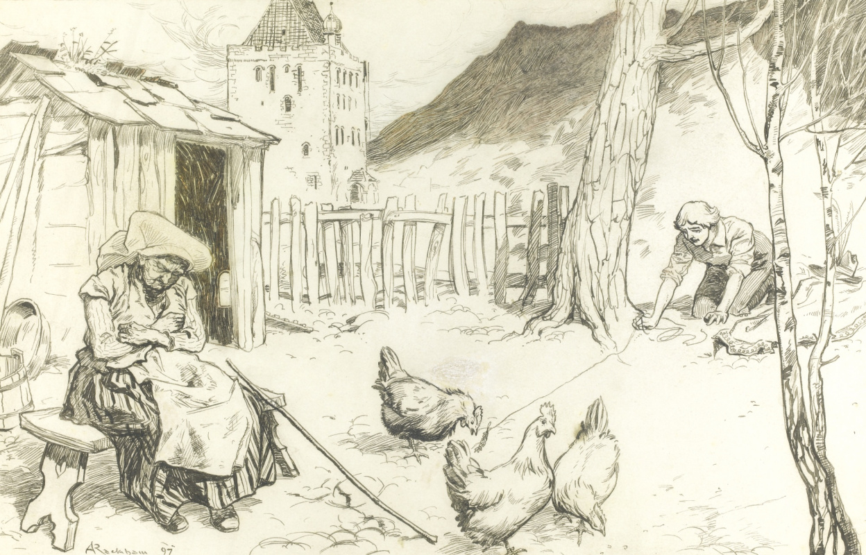 Артур Рэкхэм. Кража курицы