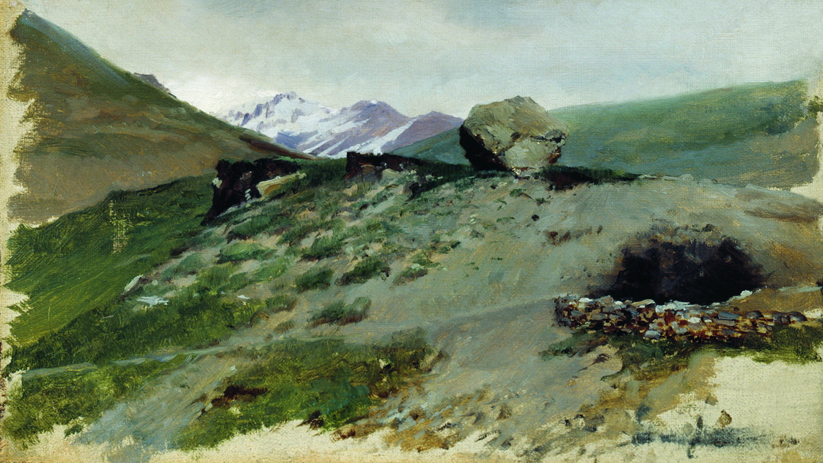 Nikolay Aleksandrovich Yaroshenko. The mountainous landscape. 1880