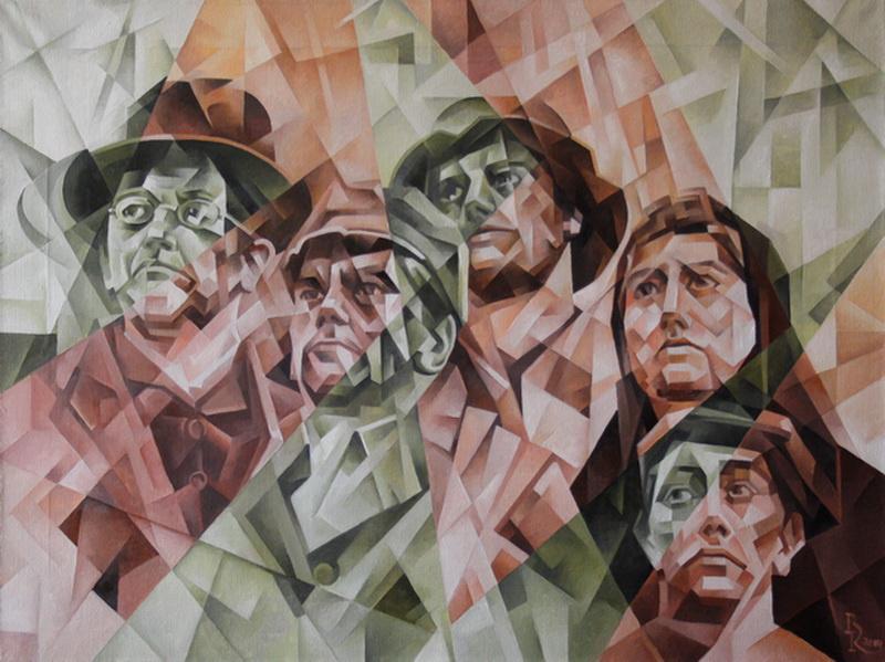 Vasily Krotkov. Donbass. Kubofuturizm