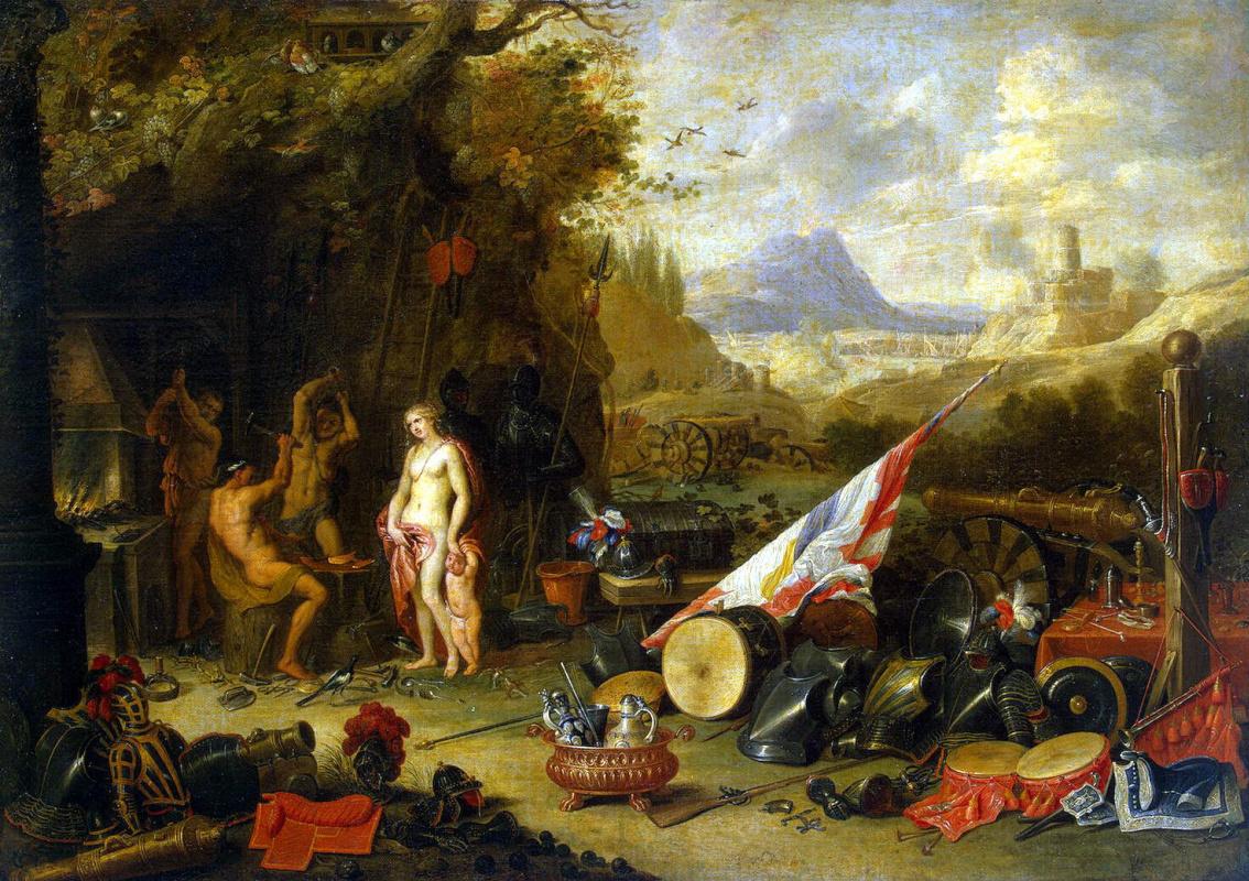 Ян ван Кессель Старший. Венера в кузнице Вулкана