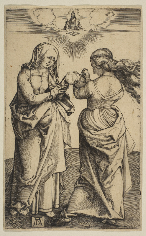 Albrecht Durer. The virgin with the infant Christ and Saint Anne