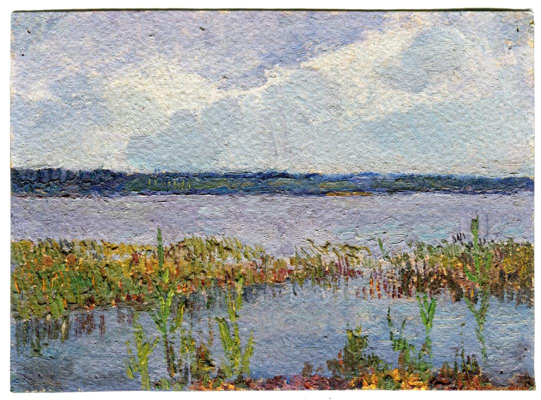 "Vasily Fadeevich Demin. Etude ""Lake"""
