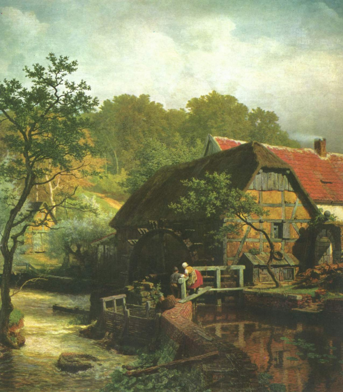Андреас Ахенбах. Водяная мельница в Вестфалии