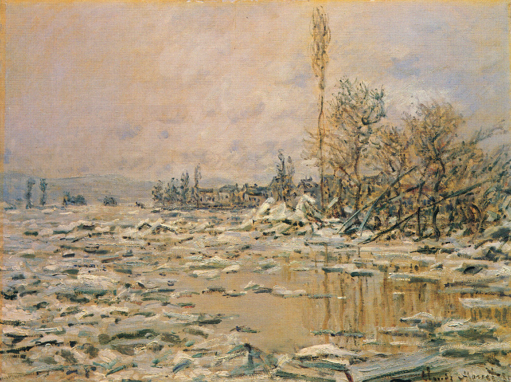 Claude Monet. Melting ice, cloudy weather