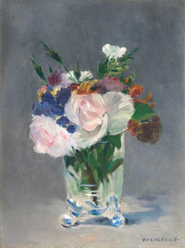 Эдуар Мане. Цветы в хрустальной вазе