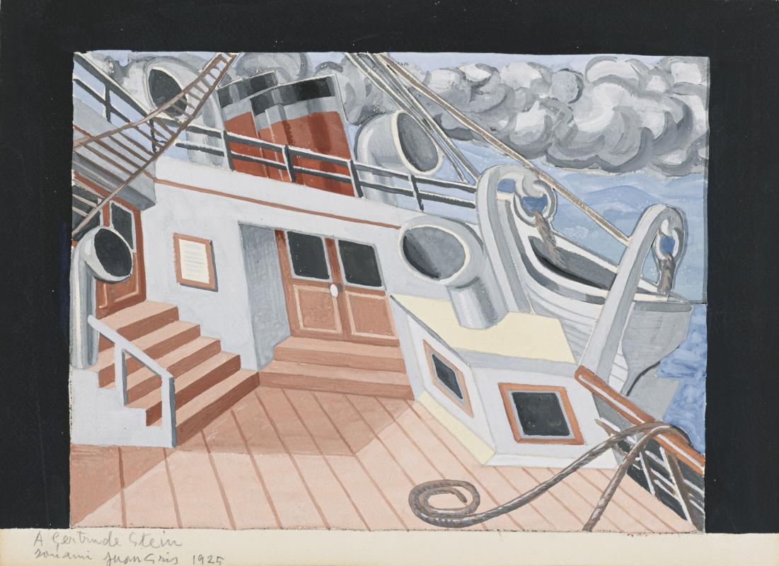 Juan Gris. The deck of the ship