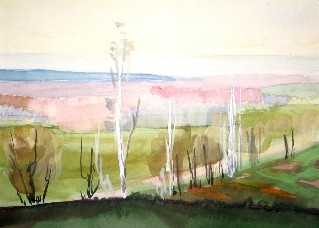 Eduard Madaminov. Spring in the suburbs