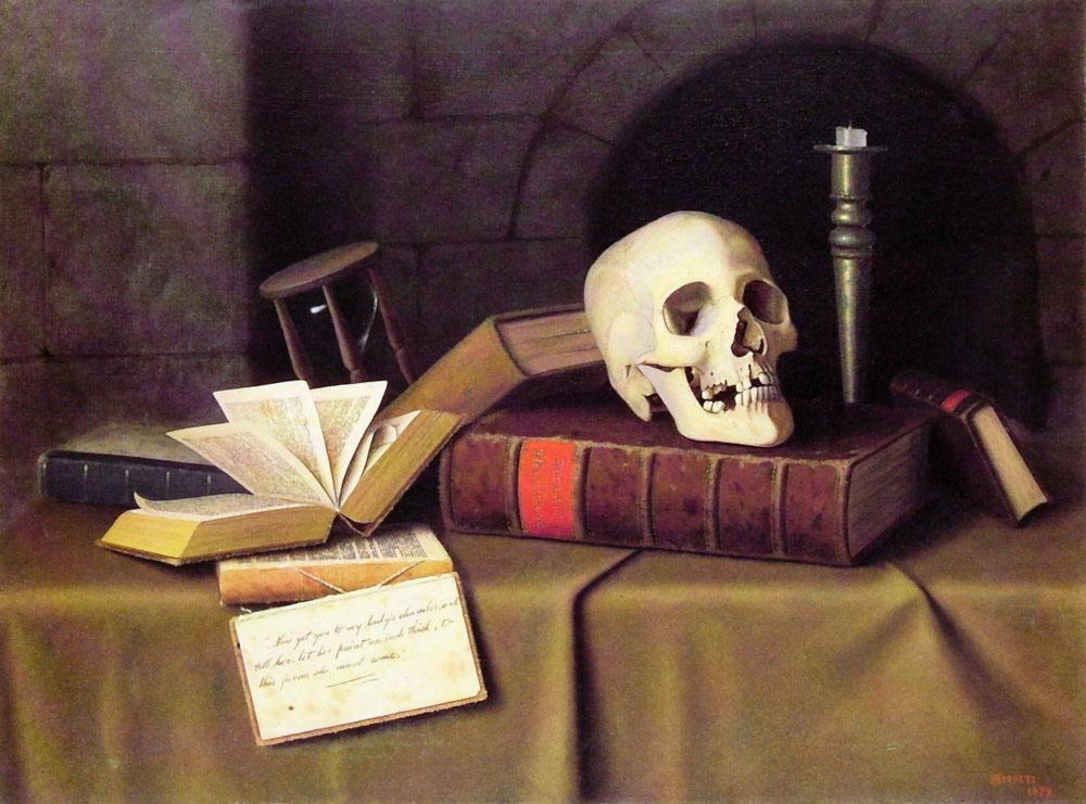 William Michael Harnett. The reminder of death