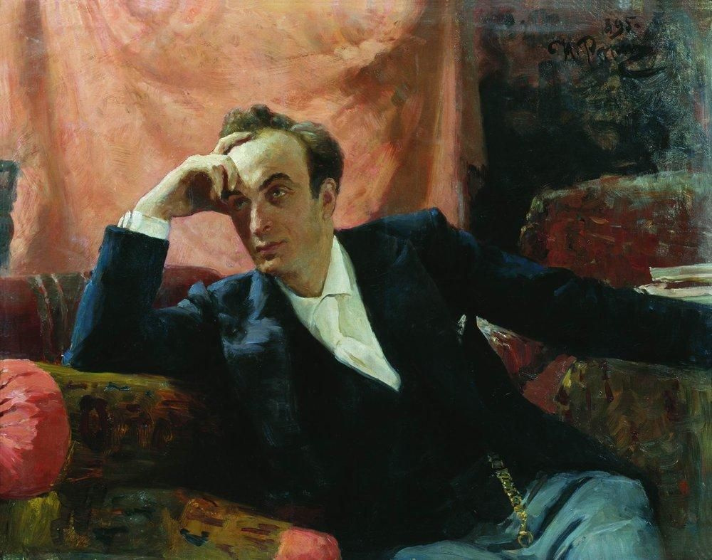 Илья Ефимович Репин. Портрет артиста Г. Ге