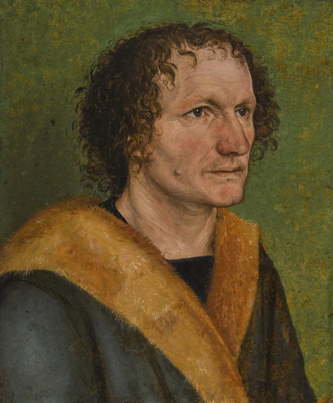 Альбрехт Дюрер. Портрет мужчины на зелёном фоне (приписывается)