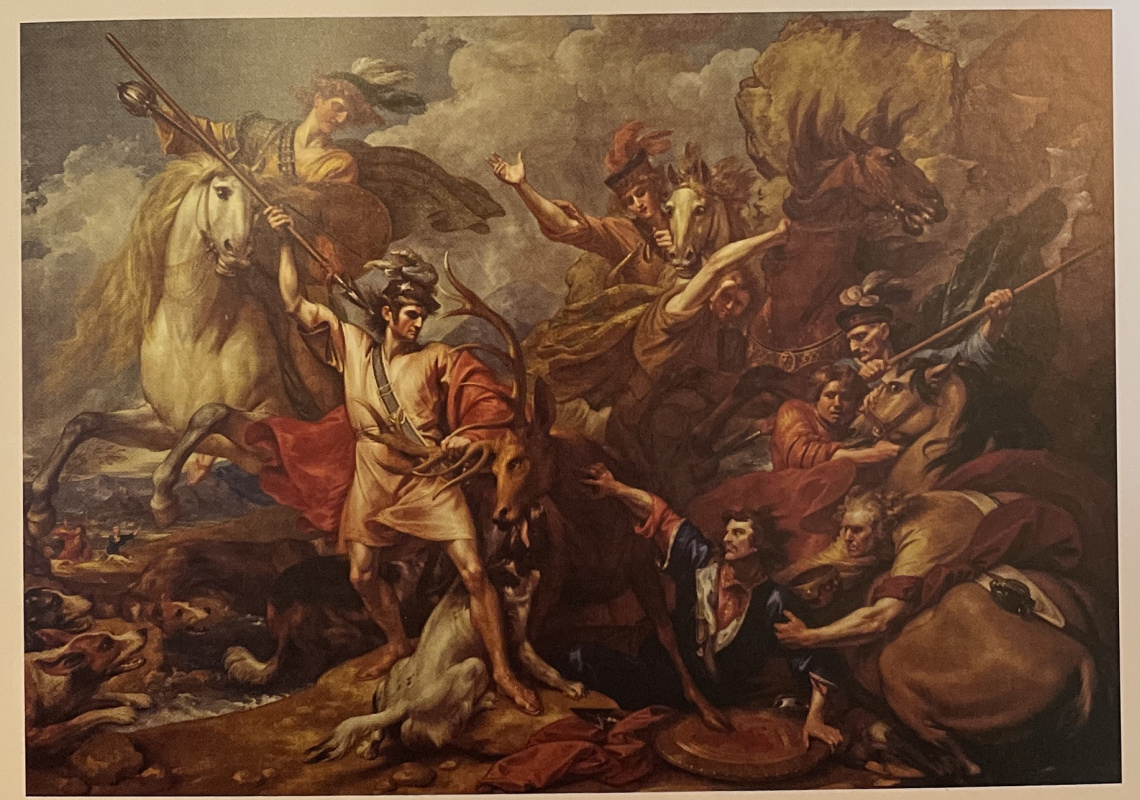 Benjamin West. Alexander 3 of Scotland Rescued from the Fury of a Stag