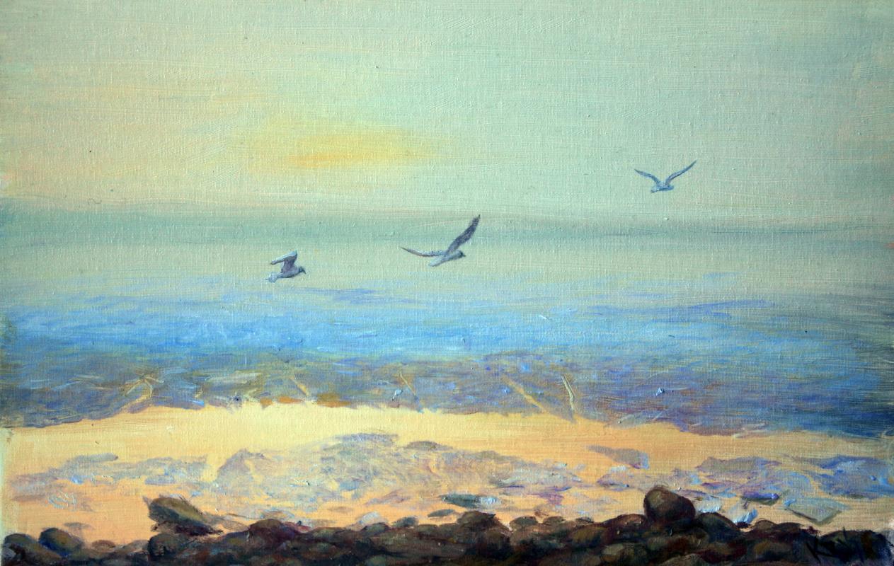 Kristina Vladimirovna Iglina. Seagulls in the Gulf of Finland