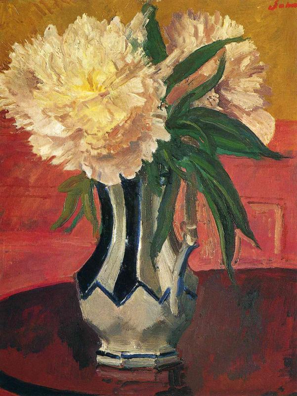 Джон Август. Белые цветы