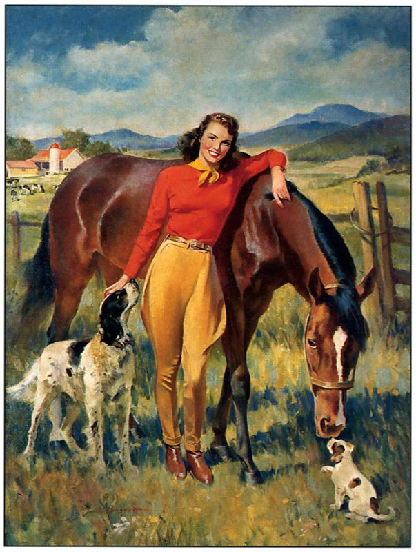 Сендс Бруннер. Девушка, лошадь и собаки