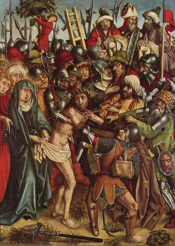 Ханс Хирц. Алтарь Страстей Христовых, сцена: Поругание Христа