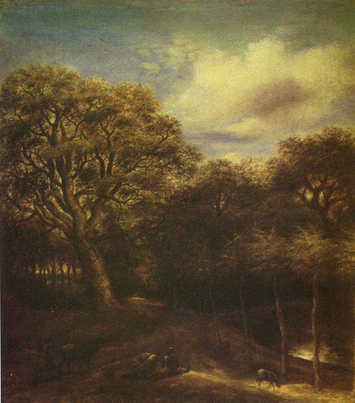 Ян Ливенс. Лесной пейзаж с двумя пастухами