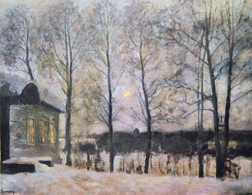 Stanislav Yulianovich Zhukovsky. Winter moonlit night