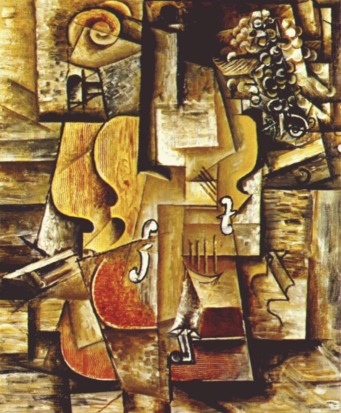 Пабло Пикассо. Скрипка и виноград