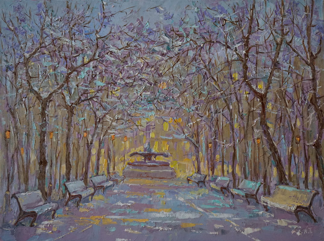 Alexander Panyukov. Winter twilight