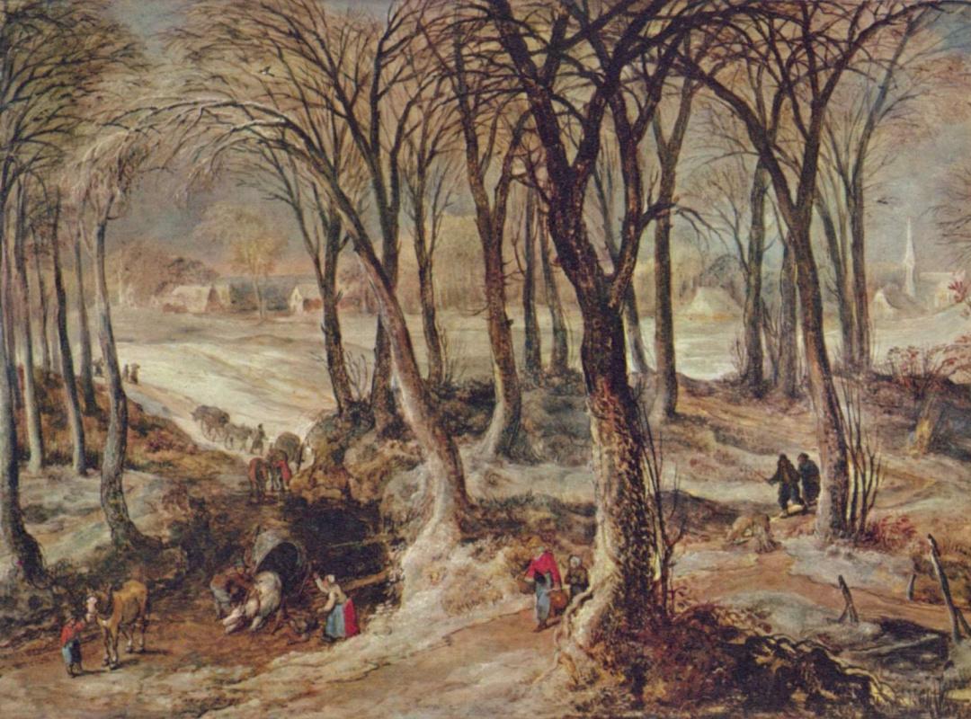 Йос де Момпер Младший. Зимний пейзаж
