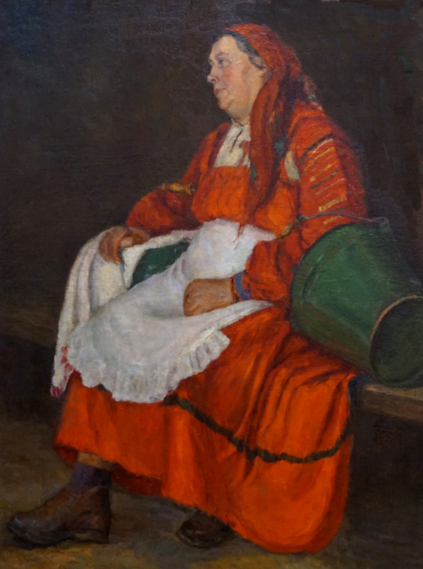 "Ирина Федоровна Аристова. ""Женщина в красном сарафане"""