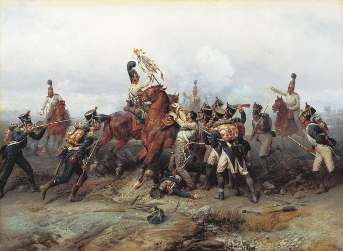 Bogdan Pavlovich Willewalde. The feat of the cavalry regiment in the battle of Austerlitz in 1805. 1884