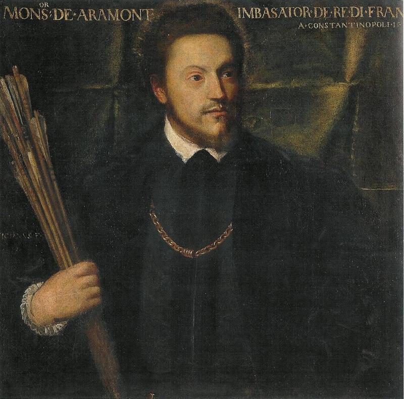 Titian Vecelli. Portrait of Gabriel de Louis D'Aramont