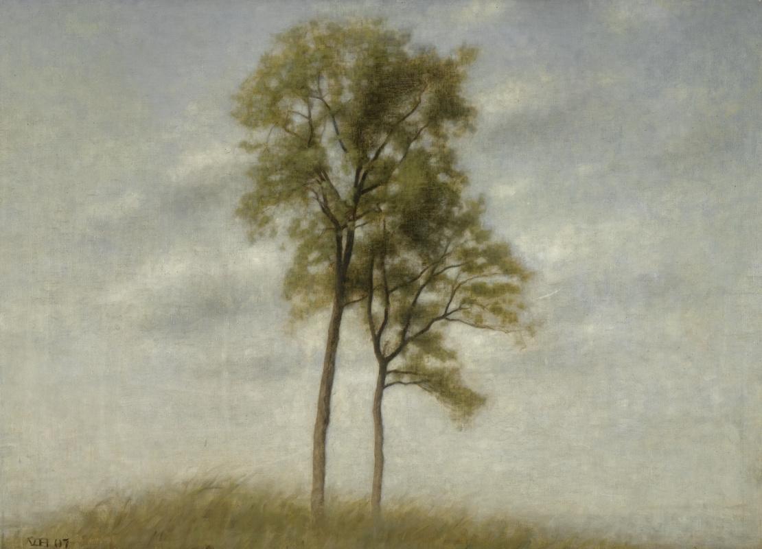 Vilhelm Hammershøi. Young trees