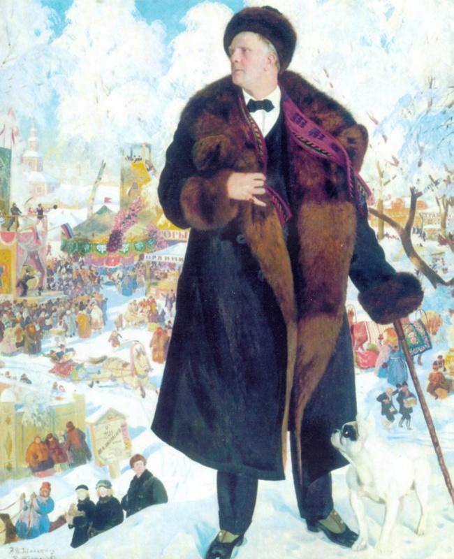 Борис Михайлович Кустодиев. Портрет Федора Шаляпина