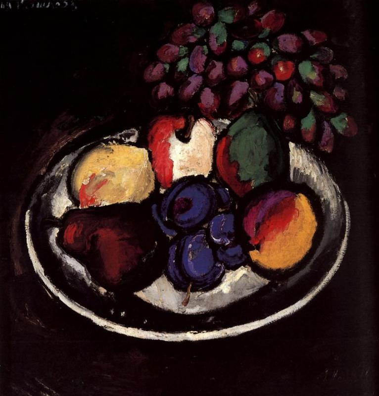 Ilya Ivanovich Mashkov. Still life with grapes