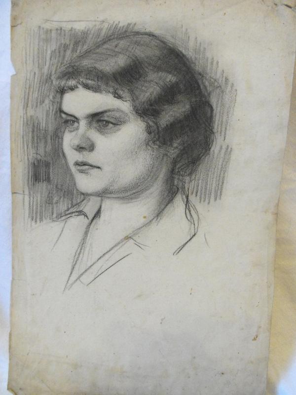 Nikolay Nikolayevich Arshinov. A portrait of his wife, L. M. Arsenovi