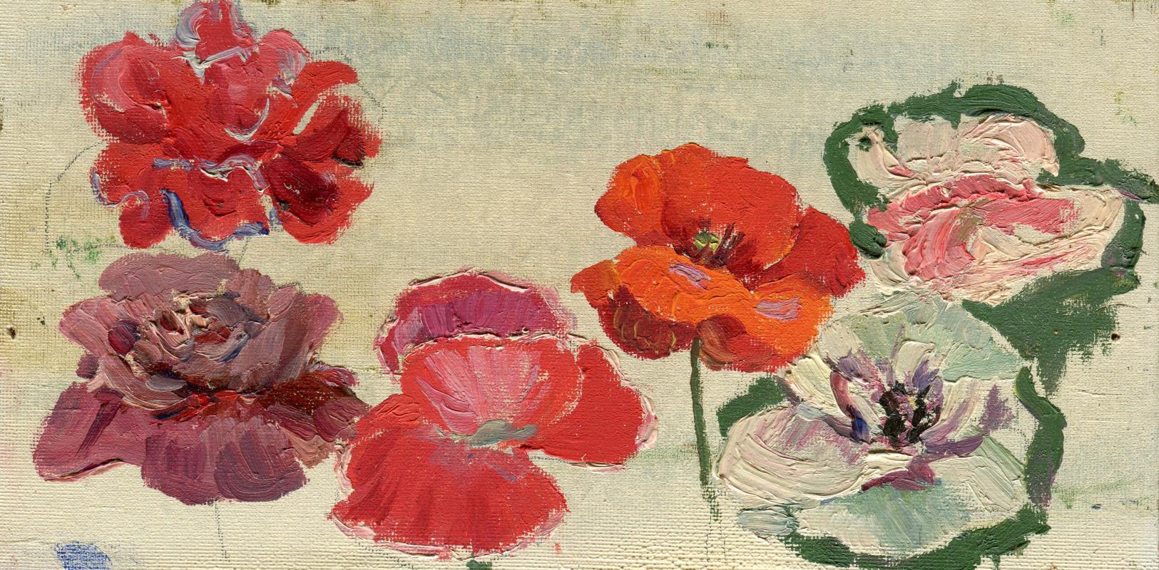 Vasily Fadeevich Demin. Study of flowers