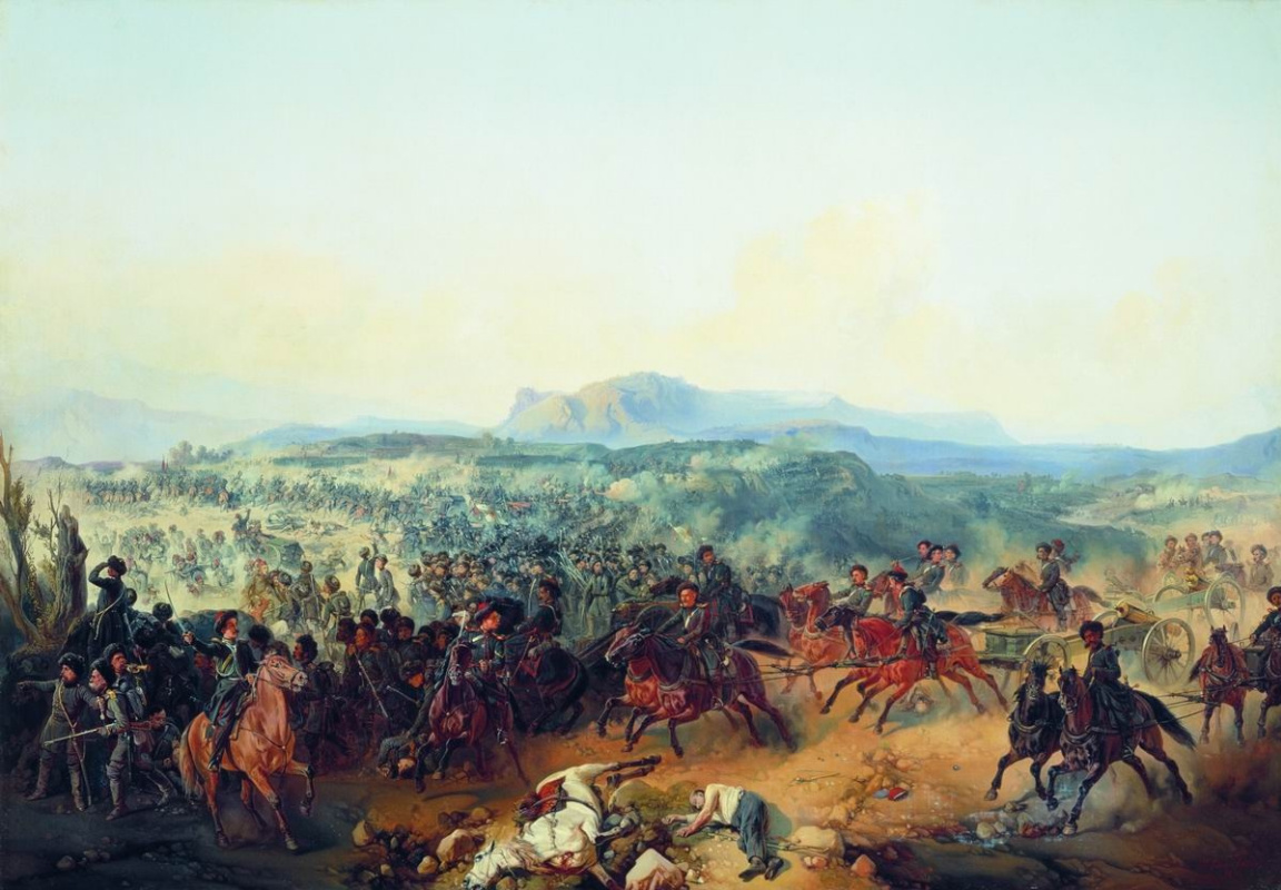 Bogdan Pavlovich Willewalde. Battle at Bashkadyklar November 19, 1853. 1855
