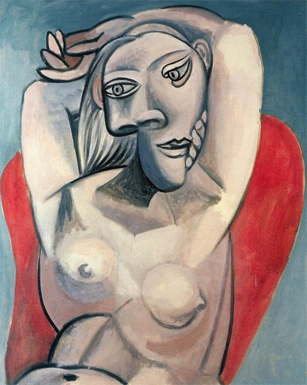 Пабло Пикассо. Женщина в красном кресле