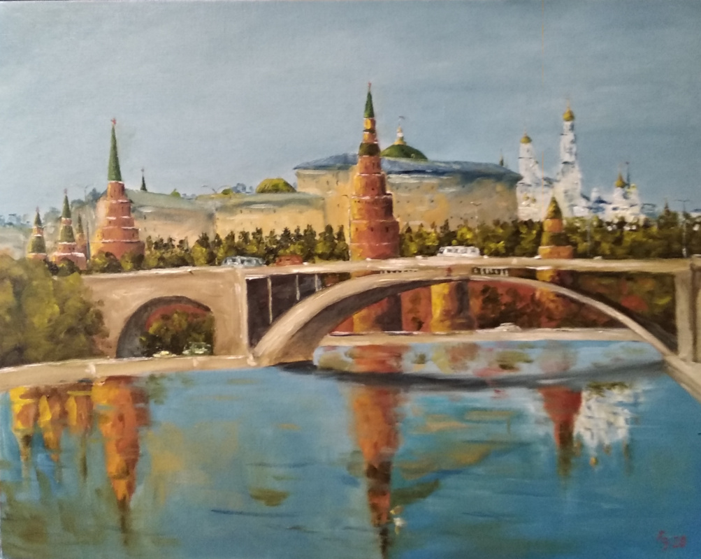 Sergei Nikolayevich Khodorenko-Zatonsky. Moscow river